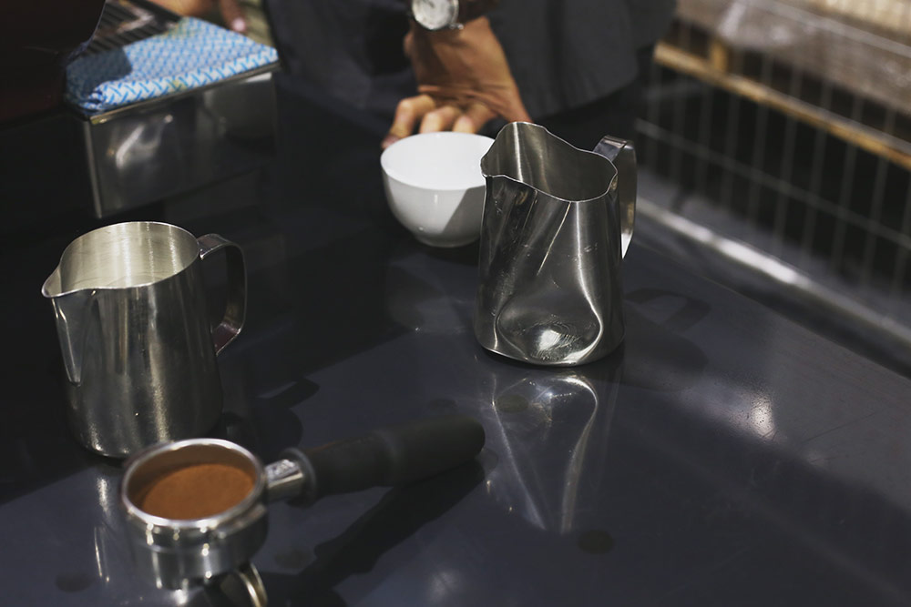 Single Origin Roasters - Throw at Single O - battered jug