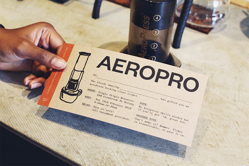 Single Origin Roasters AeroPro class