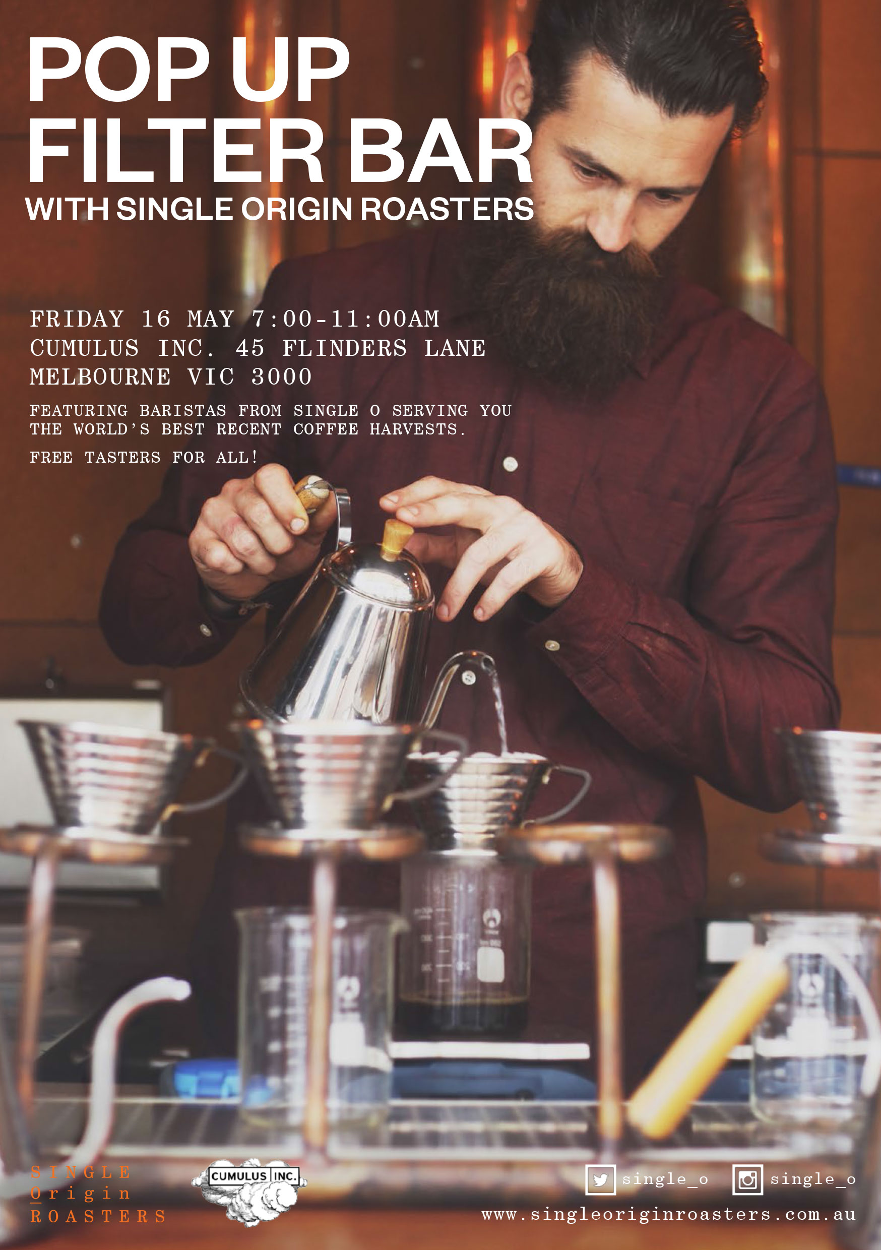Single Origin Roasters Cumulus popup